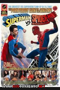Постер:СуперМэн против Человека-Паука: ПорноПародия