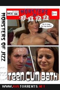 ������� ������� #34 - ������-����� ��� ���������� | Monsters of Jizz #34 - Teen Cum Bath