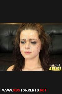 Жестокая долбёжка в горло и сперма на лице! | [Facialabuse.com] Vanessa Holmes (13-08-2013)