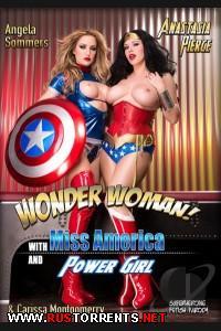 Чудо-Женщины: Мисс Капитан Америка и Девочка Молния | Wonder Woman: With Miss America And Power Girl  Anastasia Pierce, Angela Sommers, Carissa Montgomerry