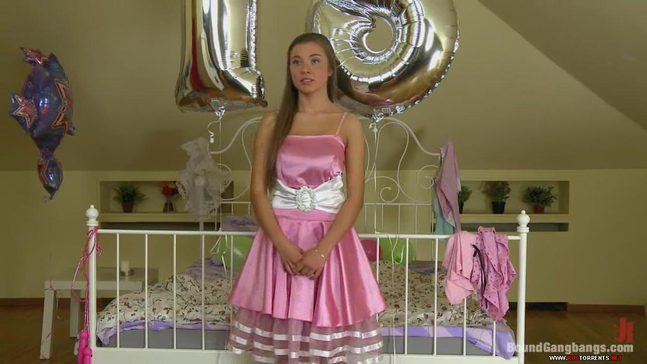 Скриншот 3:[BoundGangBangs.com / Kink.com]  Roxy Bell (Happy 18th Birthday Roxy Bell  (19.09.12)