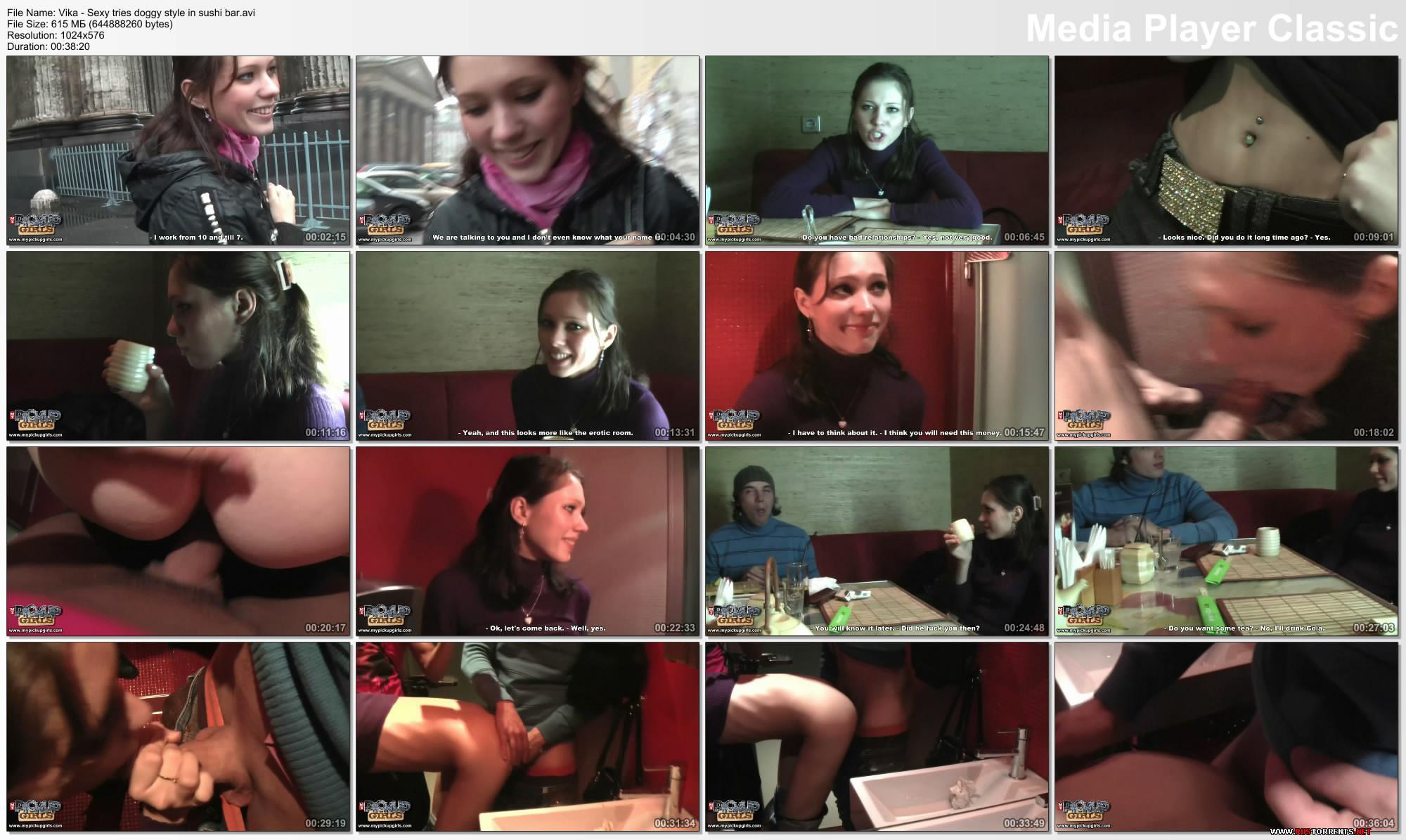 Скриншот 2:Девочку сняли на Невском и трахнули в попочку в суши-баре